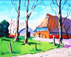Arie Zuidersma Maarhuizen 60x80 acryl op doek